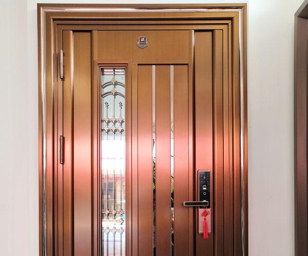 Stainless steel home security door