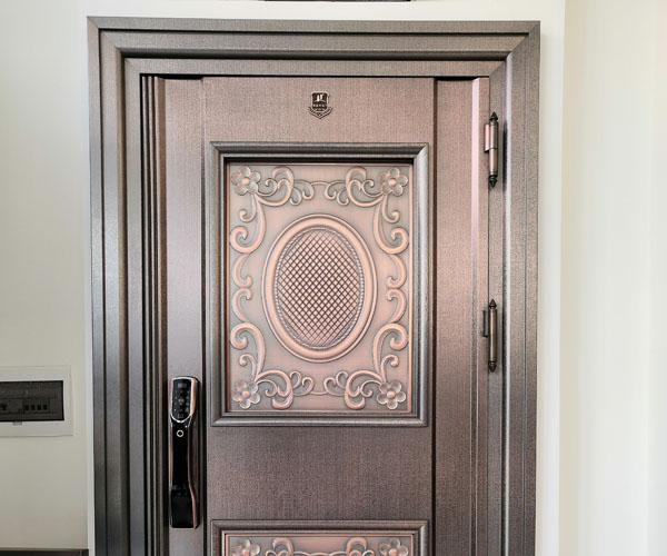 Stainless steel copper plated door