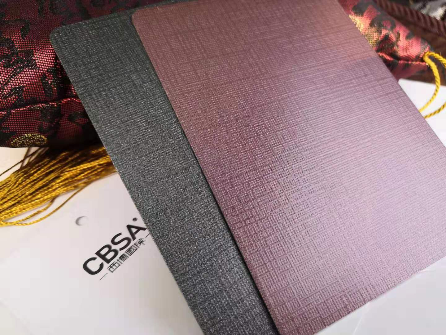 Colored stainless steel nano-baking paint sheet on the texture surface