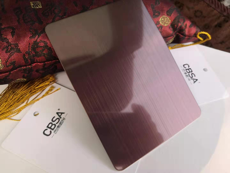 Anti-fingerprint Colored stainless steel copper sheet