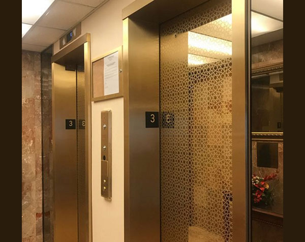 Color stainless steel elevator decorative sheets application display