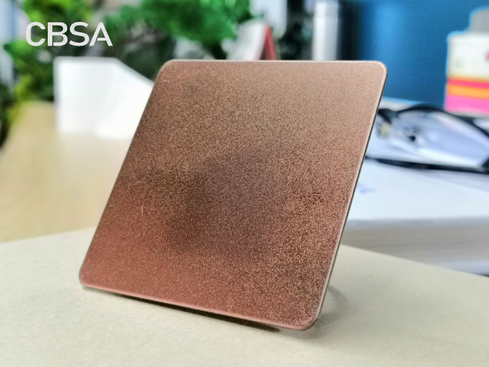 decorative colored Stainless steel sandblasted sheets