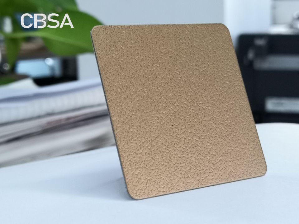 Vintage style Champagne gold embossing colored Stainless steel sheet
