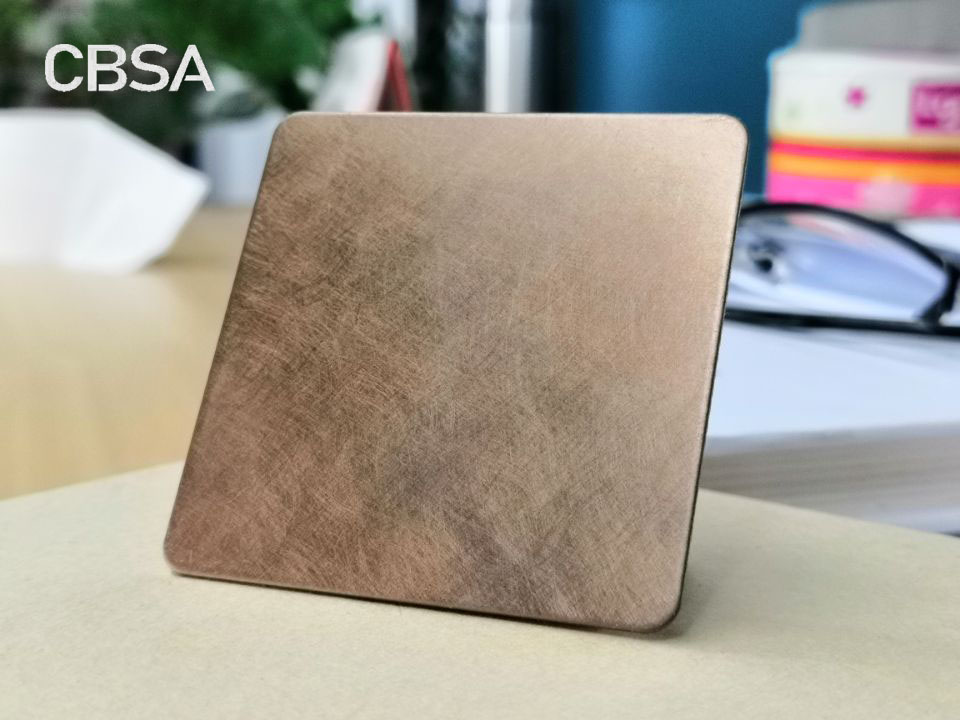 rose gold Stainless steel vibration sheets