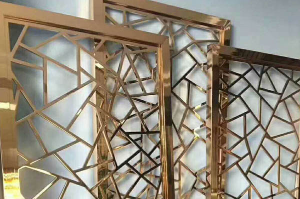 Decorative stainless steel screens partition custom made
