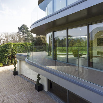 outdoor Stainless steel glass safety railing