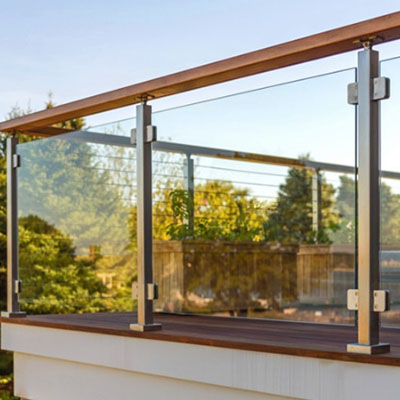 outdoor 304 Stainless steel glass railing