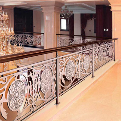 indoor Rose Gold 304 Stainless steel railing