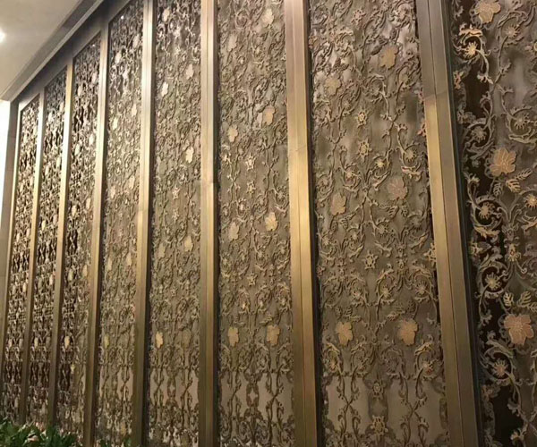 Hotel inerior decorative Color stainless steel screen partition