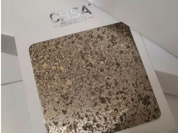 KTV imitation stone series stainless steel plate for decoration
