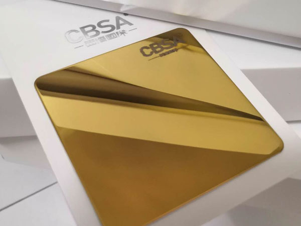 Interior decoration gold mirror stainless steel sheet Export to India
