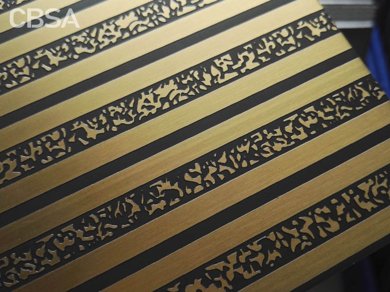 Stainless steel copper sheet for decoration