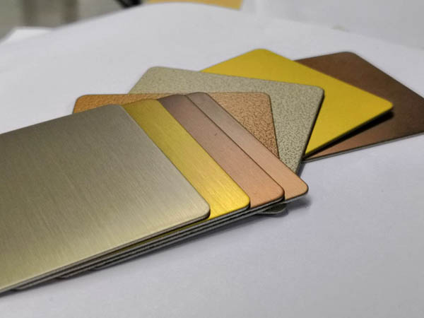 Space decoration PVD coated gold stainless steel sheet