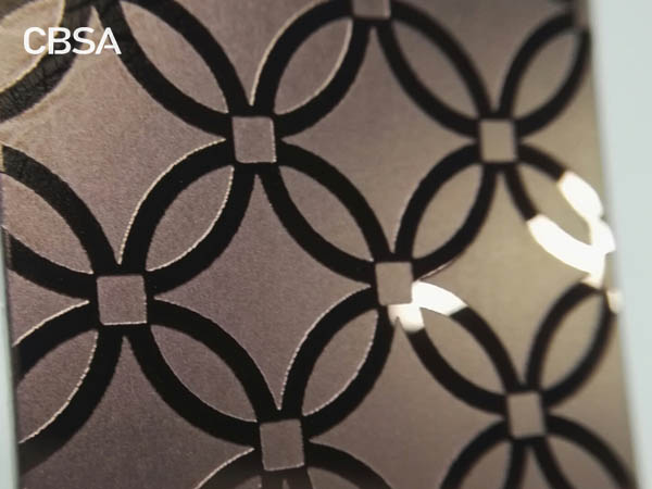 Colored etching stainless steel sheet for indoor elevator wall decoration
