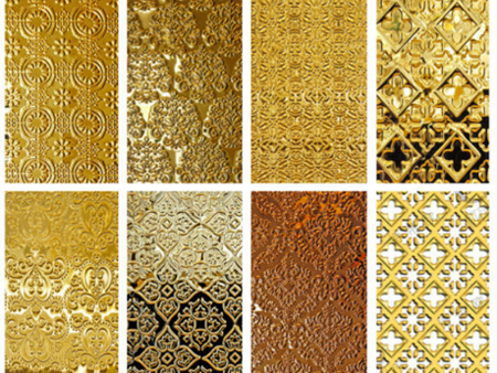 New Pattern Decorative PVD Coated Color Stainless Steel Embossing Sheets  in china