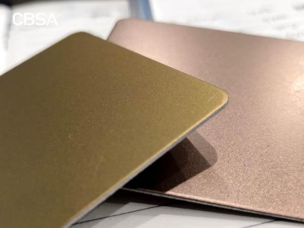 Decorative color stainless steel sheet rose gold sandblasting series