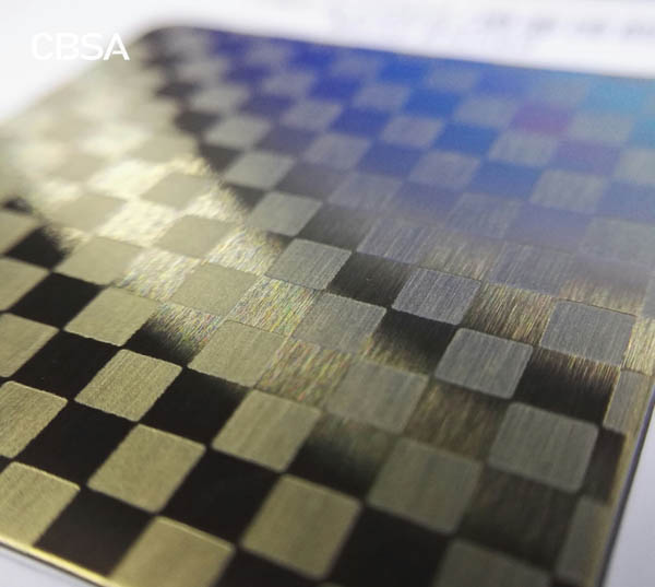 Colored etching stainless steel plate for indoor elevator wall decoration
