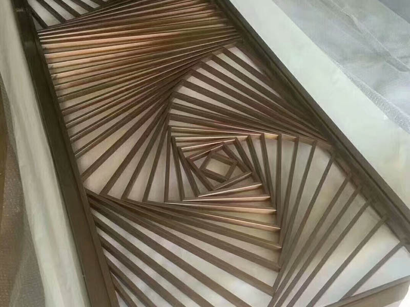 Chinese decorative stainless steel screen partitions are produced in Foshan