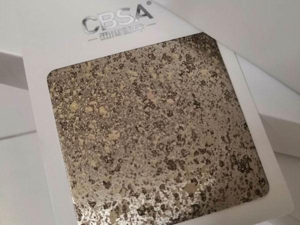 3D stone surface anti-fingerprint stainless steel sheet