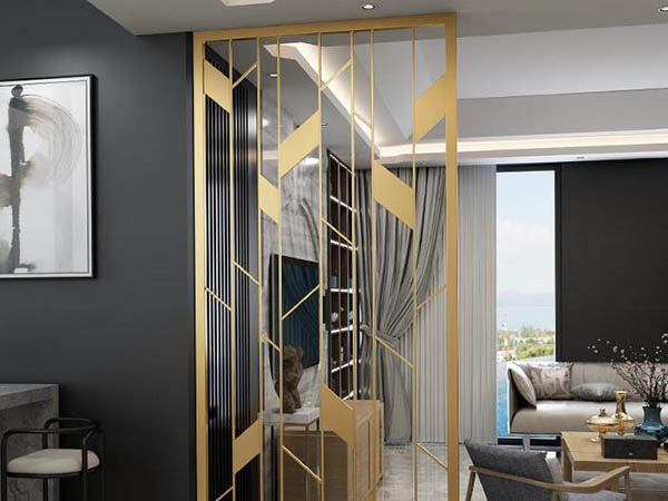 Stainless steel screen partition for interior decoration