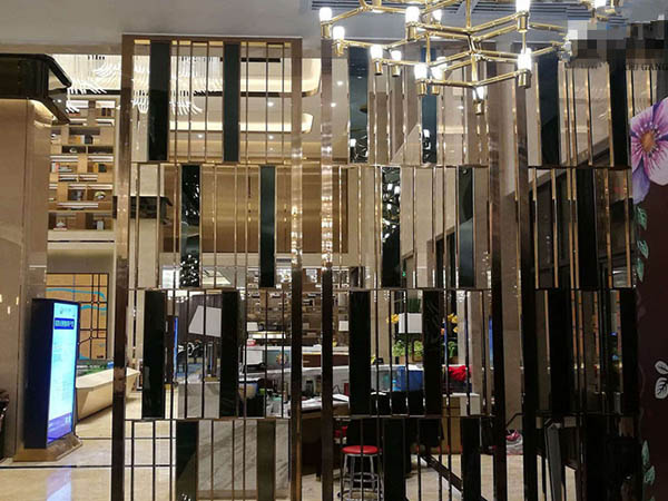 Hotel stainless steel screen partition processing manufacturers
