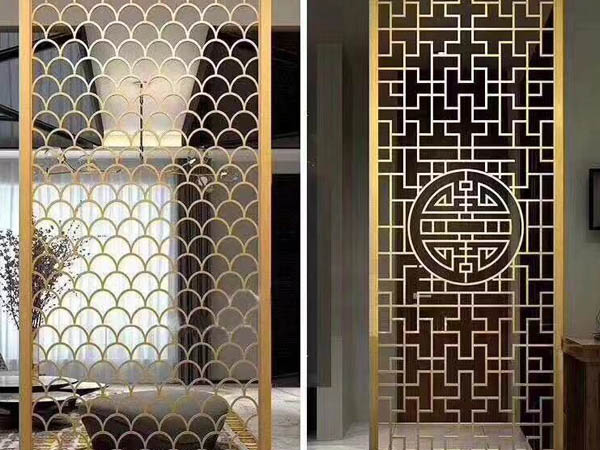 Decorative stainless steel screen partition manufacturers