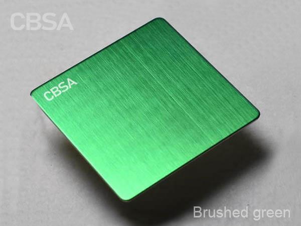 Italian designer's favorite 304 green brushed stainless steel Decorative sheet