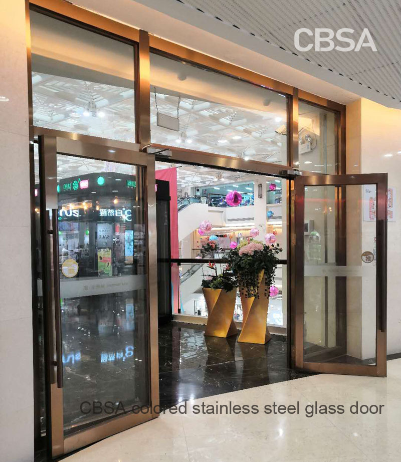 <strong>How to customize the colored stainless steel glass door used in the hotel door?</strong>