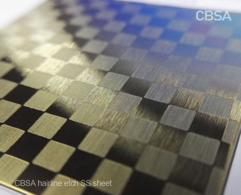 How does the colored stainless steel decorative sheet make the interior decoration more beautiful?