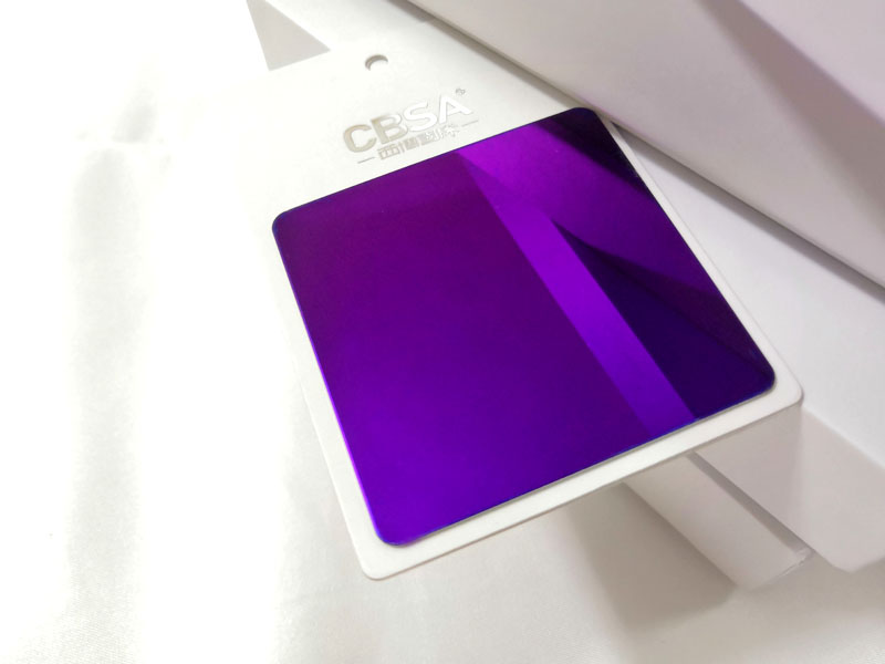 <strong>Purple mirror stainless steel decorative sheet manufacturer</strong>