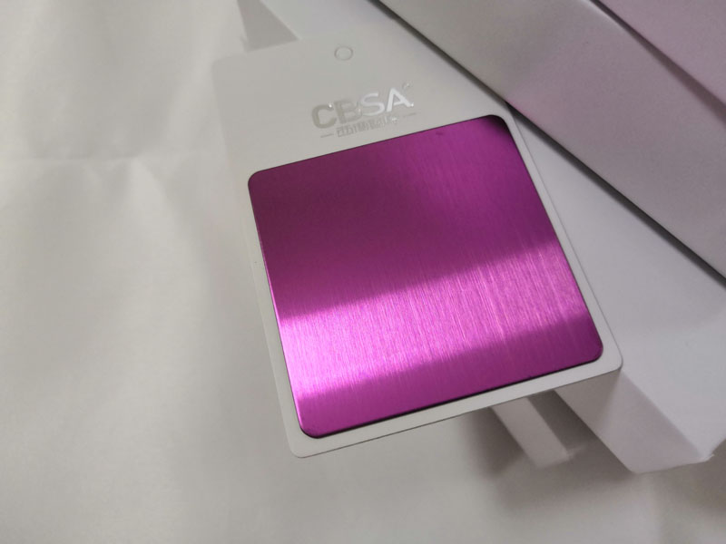 <strong>Exporter of purple brushed stainless steel decorative sheet</strong>
