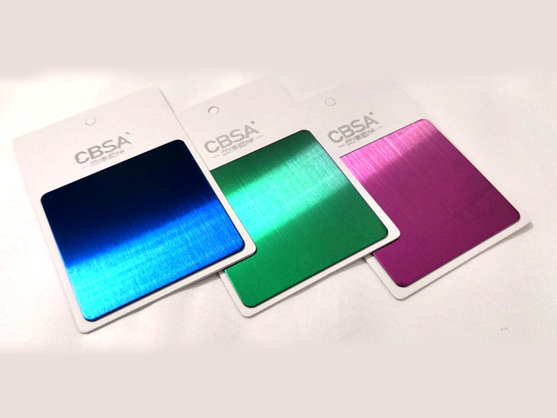 304 Colored stainless steel hairline/brushed sheet price per kg in india