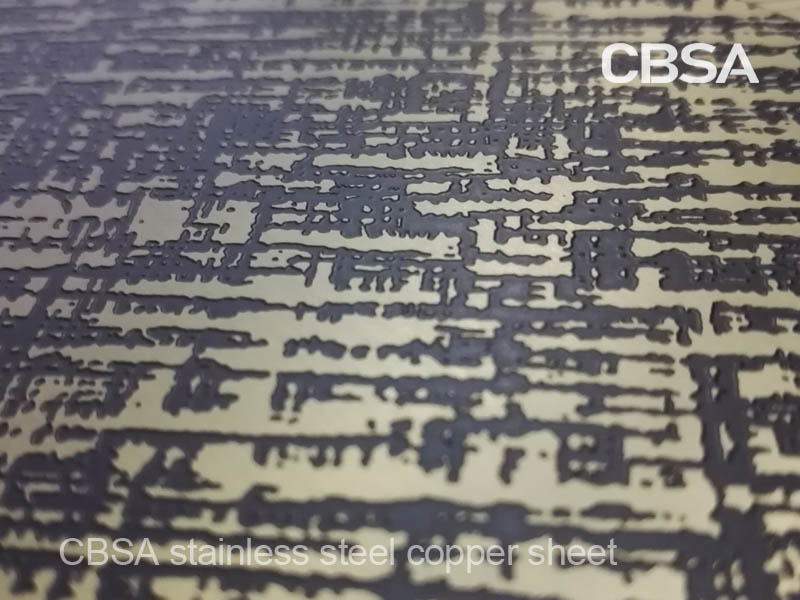 etched stainless steel bronze sheet