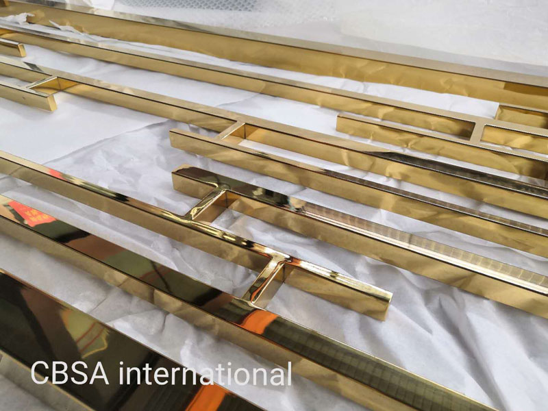 304 gold mirror Stainless steel decorative screen