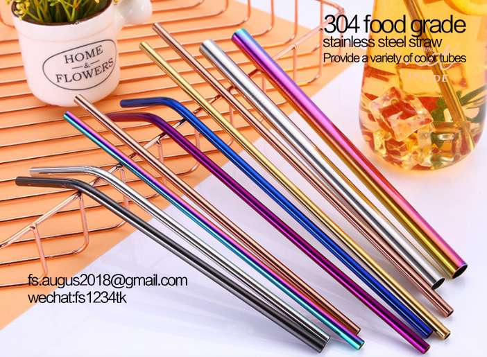 304 food grade colored stainless steel straws