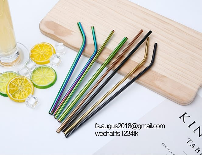 304 colored stainless steel straws