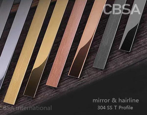 CBSA international decorative Stainless steel inlay in interior