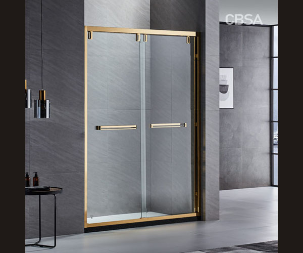 What happens when the golden mirror stainless steel meets the shower room?