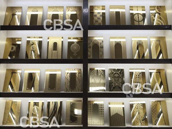 gold etching elevator stainless steel designer sheet