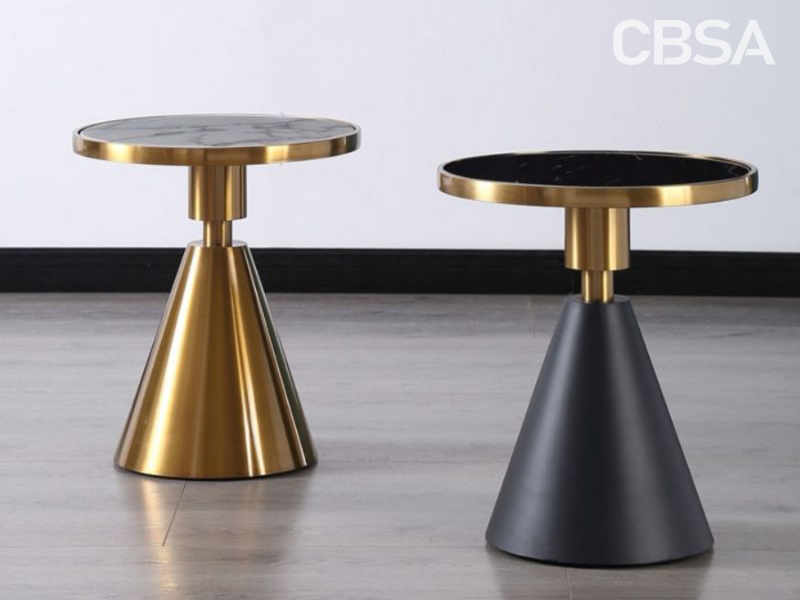 Stainless Steel Round coffee table in the living room