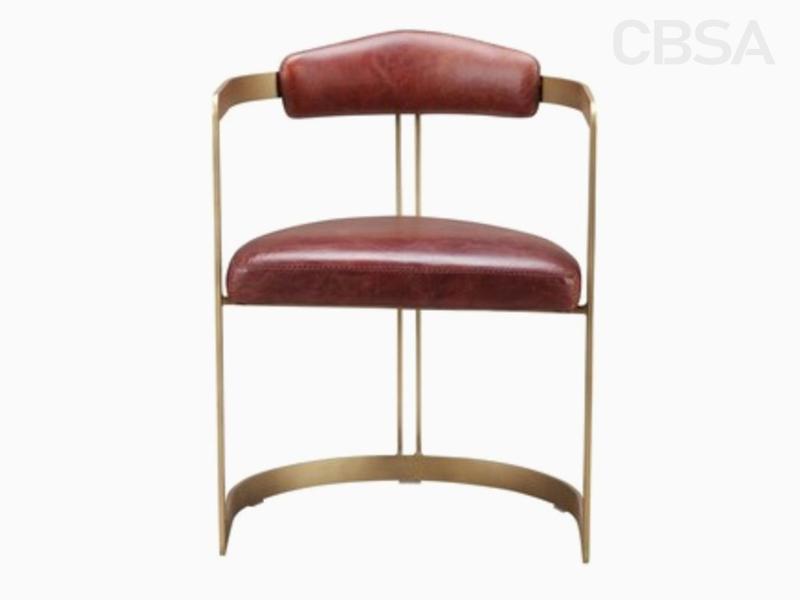 Stainless Steel metal modern coffee chair