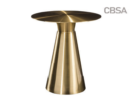304 stainless steel gold mirror tea table