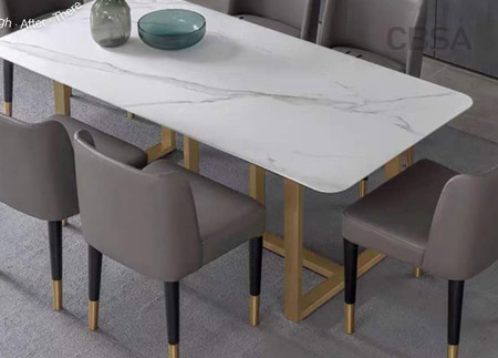 stainless steel gold HL dining table for living room