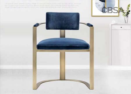 stainless steel gold modern office chair
