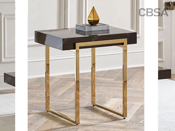 304 stainless steel mirrorgold Corner table