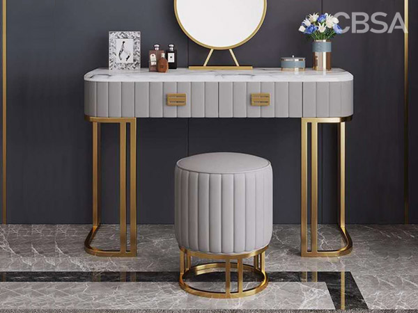 304 stainless steel HL gold Dressing Tables