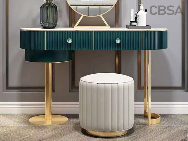 stainless steel gold Dressing Tables in the room