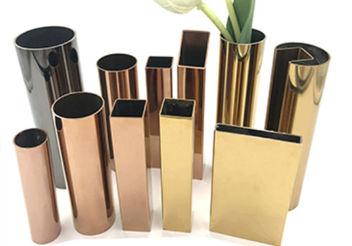 color stainless steel decorative pvd tube