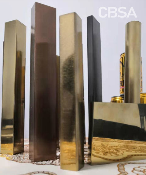 color stainless steel decorative tube