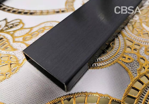 304 pvd black stainless steel pipe
